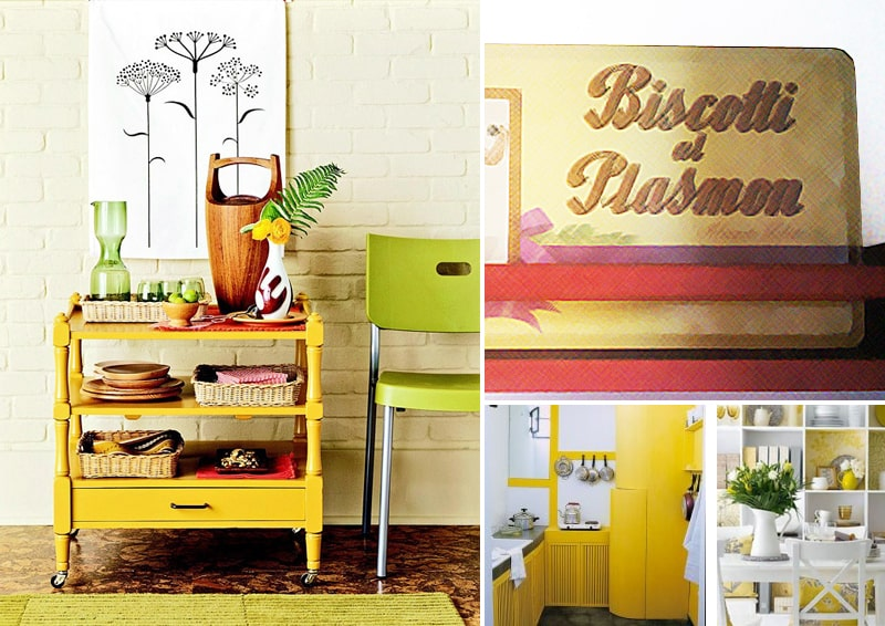 cucine gialle e felicità