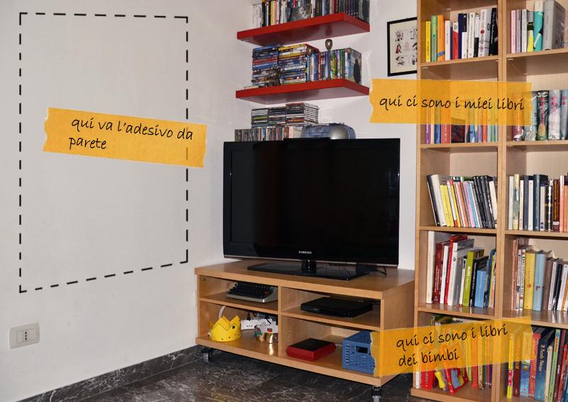 adesivi murali formato famiglia