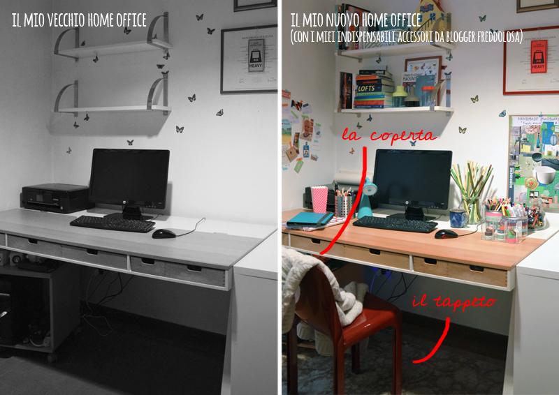 home office colorato per blogger con bambini