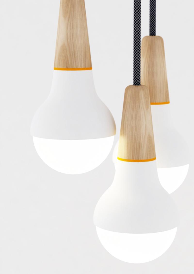 il fascino delle lampade nude | minimalismo nell'illuminazione