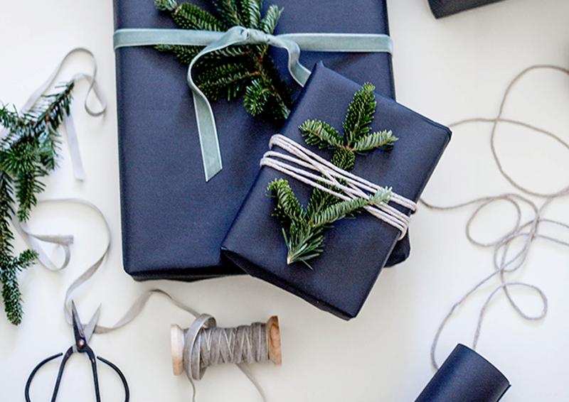 vesti la casa di blu Natale
