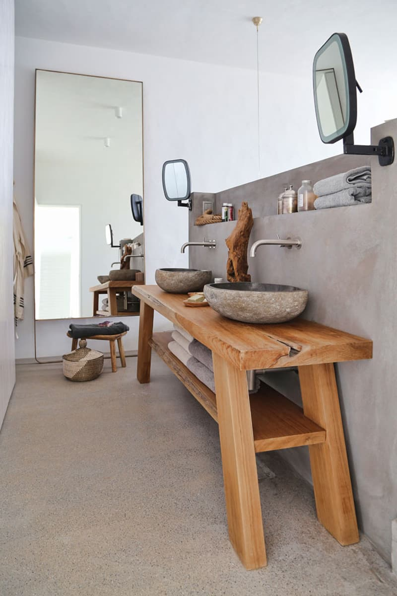 legno in bagno, idee per un restyling