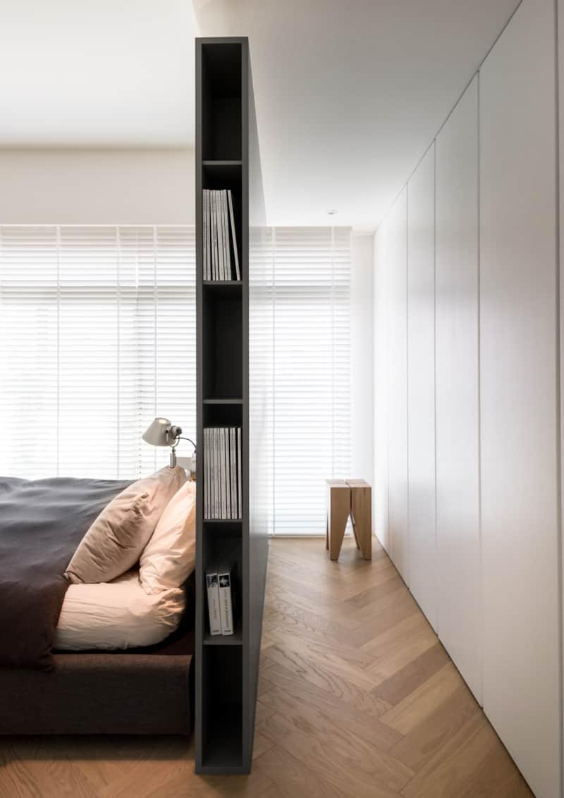 testiera di design per chi ama leggere a letto