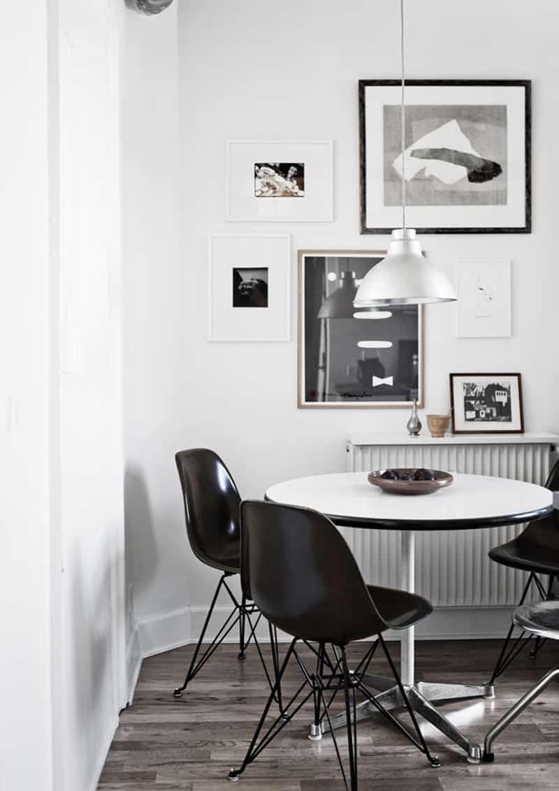 interno in bianco e nero