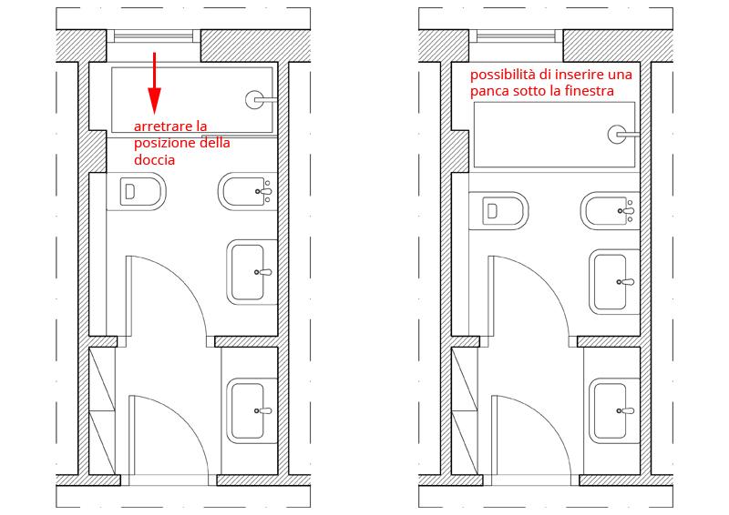 Finestra nella doccia problemi idee soluzioni design - Altezza di una finestra ...