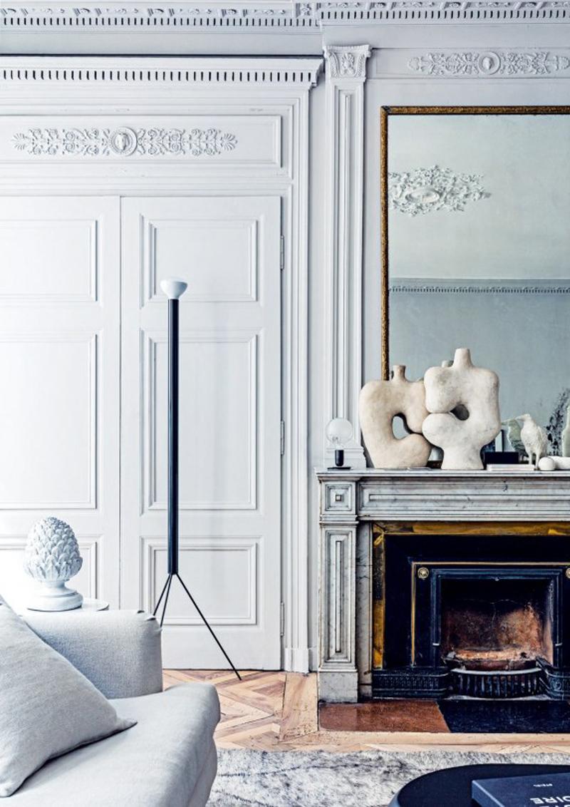 interno classico francese con un tocco contemporaneo