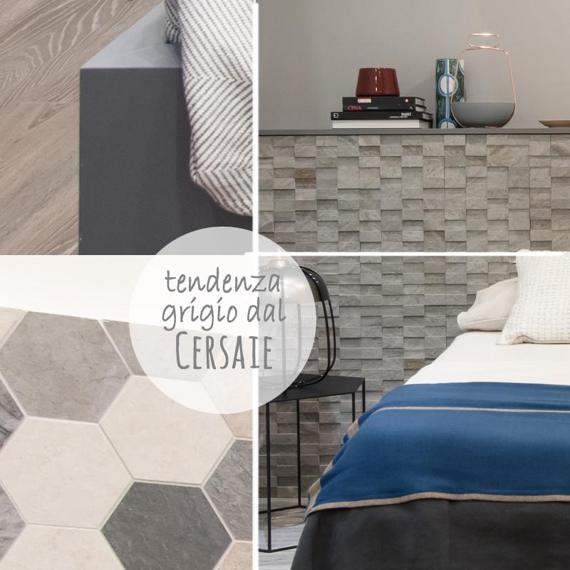 outfit autunnale: tendenza grigio per vestire la camera da letto. Collezioni rivestimenti e pavimenti viste al Cersaie
