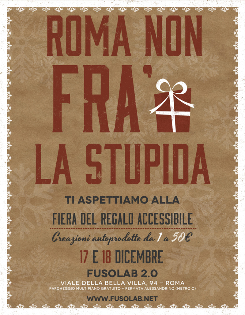 mercatini di Natale Roma | FRA', Fiera del Regalo Accessibile