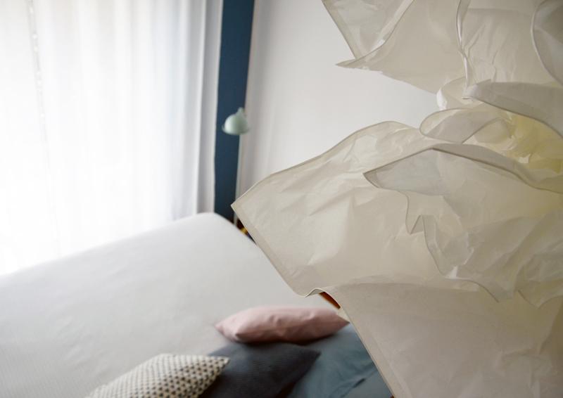 restyling camera da letto | una nuova lampada a sospensione