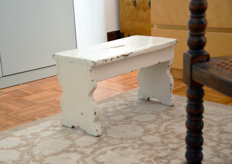 restyling camera da letto | il mio vecchio sgabello della casa di Trieste