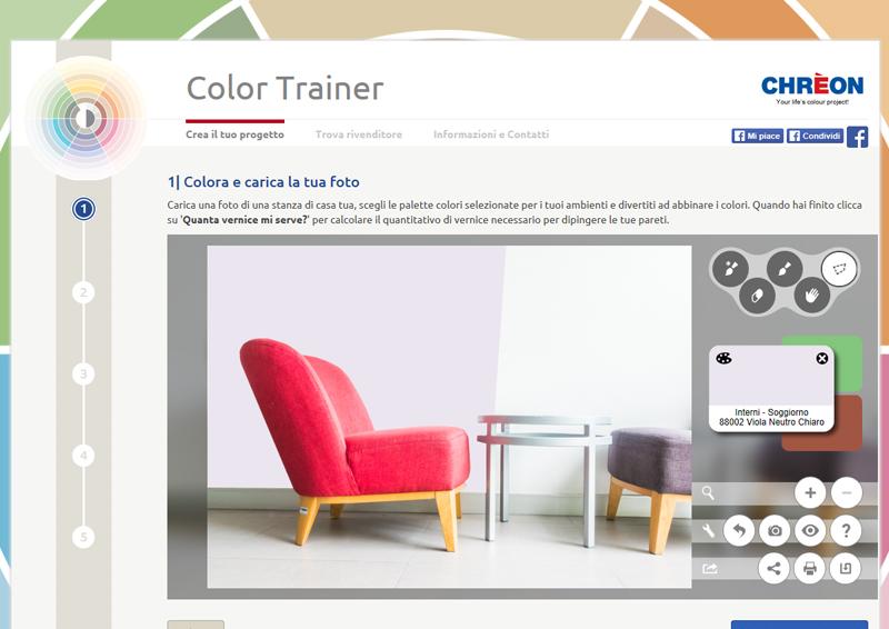 colore per interni | un violaneutro per le pareti del soggiorno
