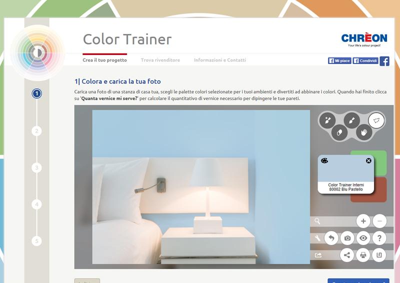 colore per interni | un blu pastello per le pareti della camera da letto