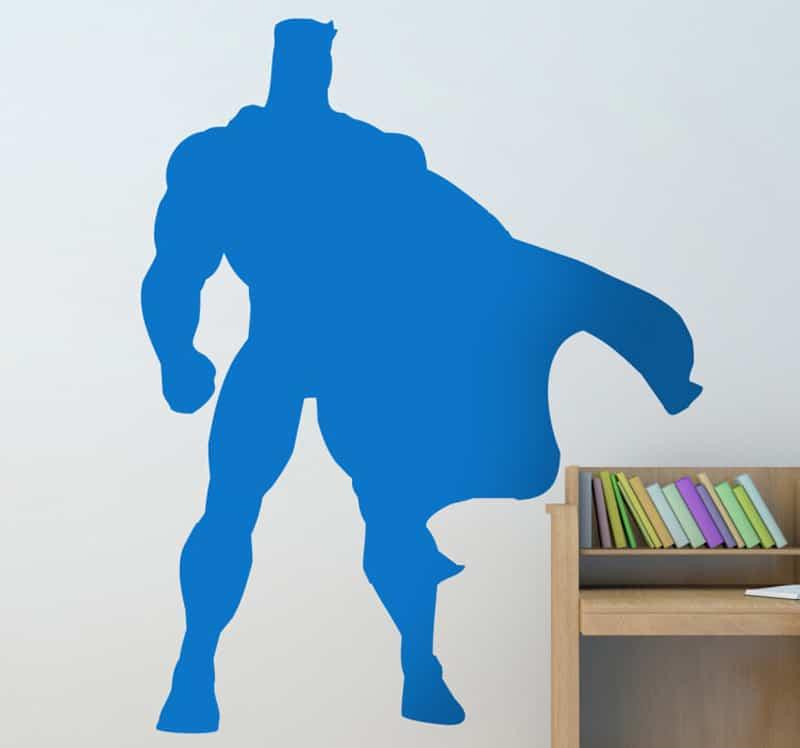 adesivi murali per bambini | adesivo bambini silhouette superuomo