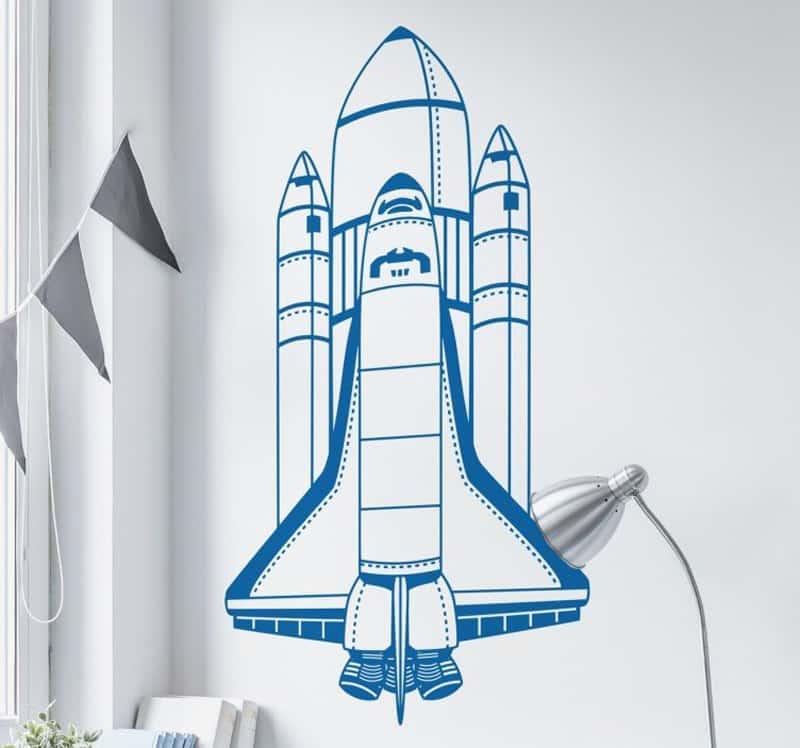 adesivi murali per bambini | adesivo cameretta navicella spaziale