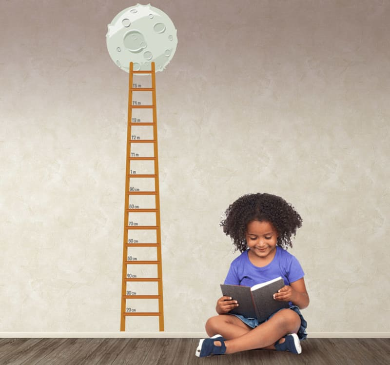 adesivi murali per bambini | sticker bambini metro scala luna