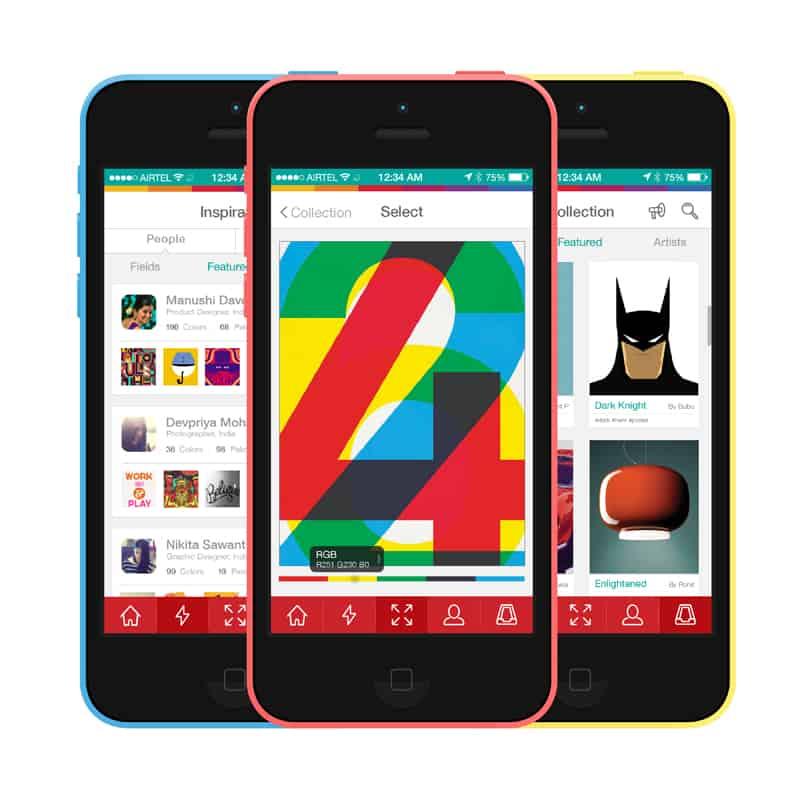 curiosità design   Motley Color reference application di Varsha Gupta & Amit Nanda