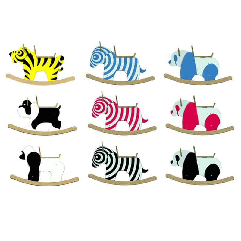 curiosità design | Rocking Zebra Toy di Newmakers