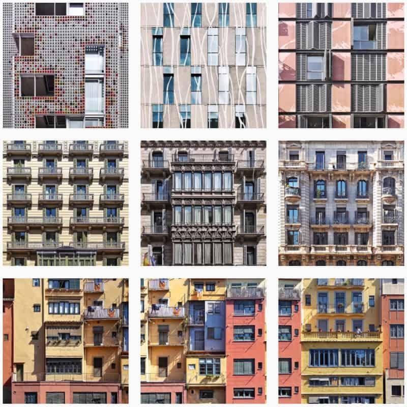 città su instagram | il racconto attraverso le facciate degli edifici
