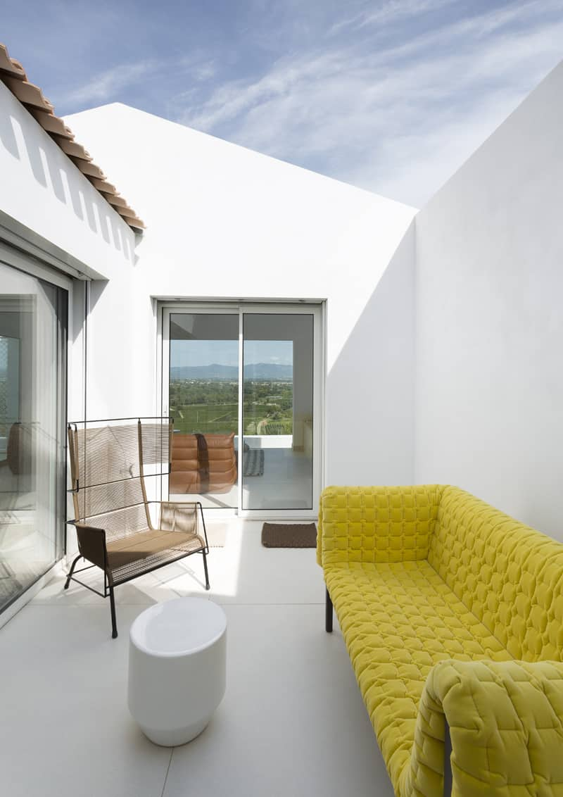 casa con vista tra i vigneti del sud della Francia