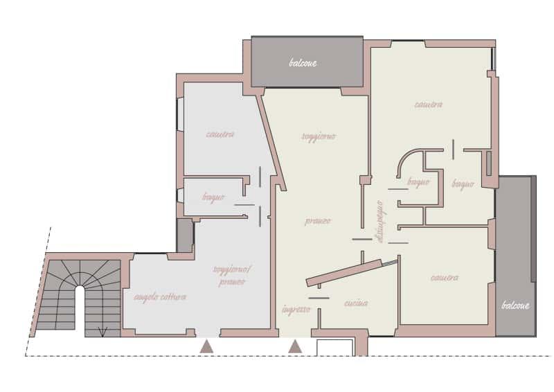 progetto su misura | frazionare un appartamento