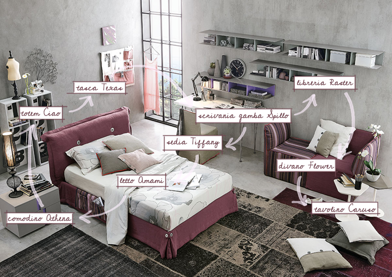 Di camerette e di ingredienti di design design outfit for Idee camera da letto ragazza