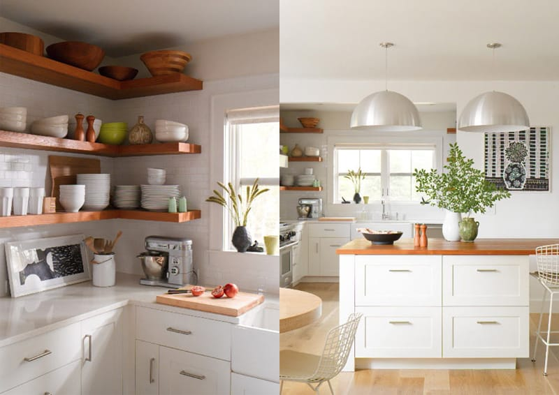 tutto a vista in cucina | mensole e scaffali aperti | design ...