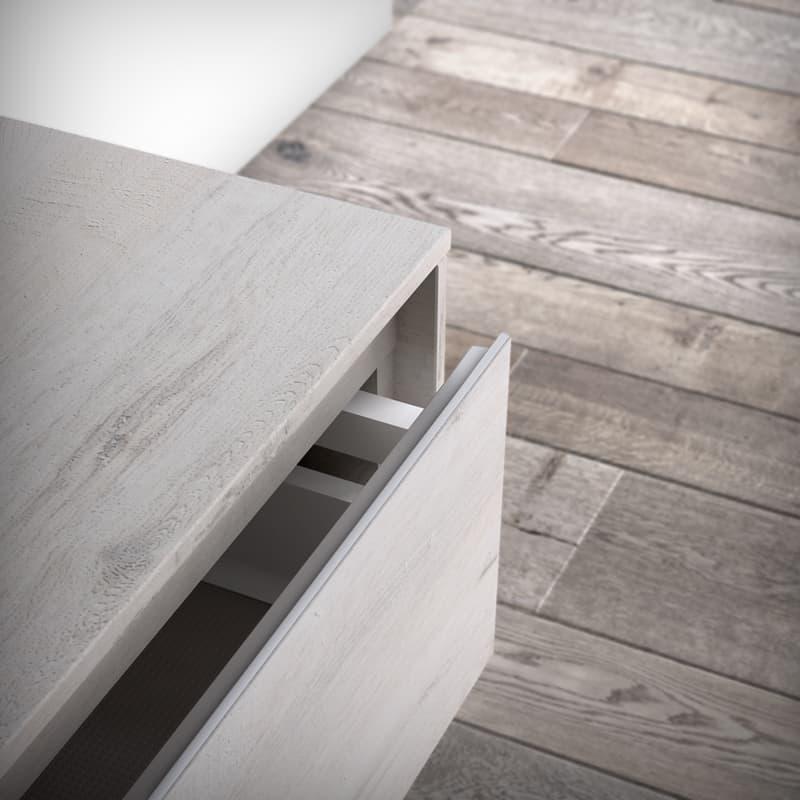 progetto bagno | laminato HPL con finitura legno, collezione NYU di Ideagroup