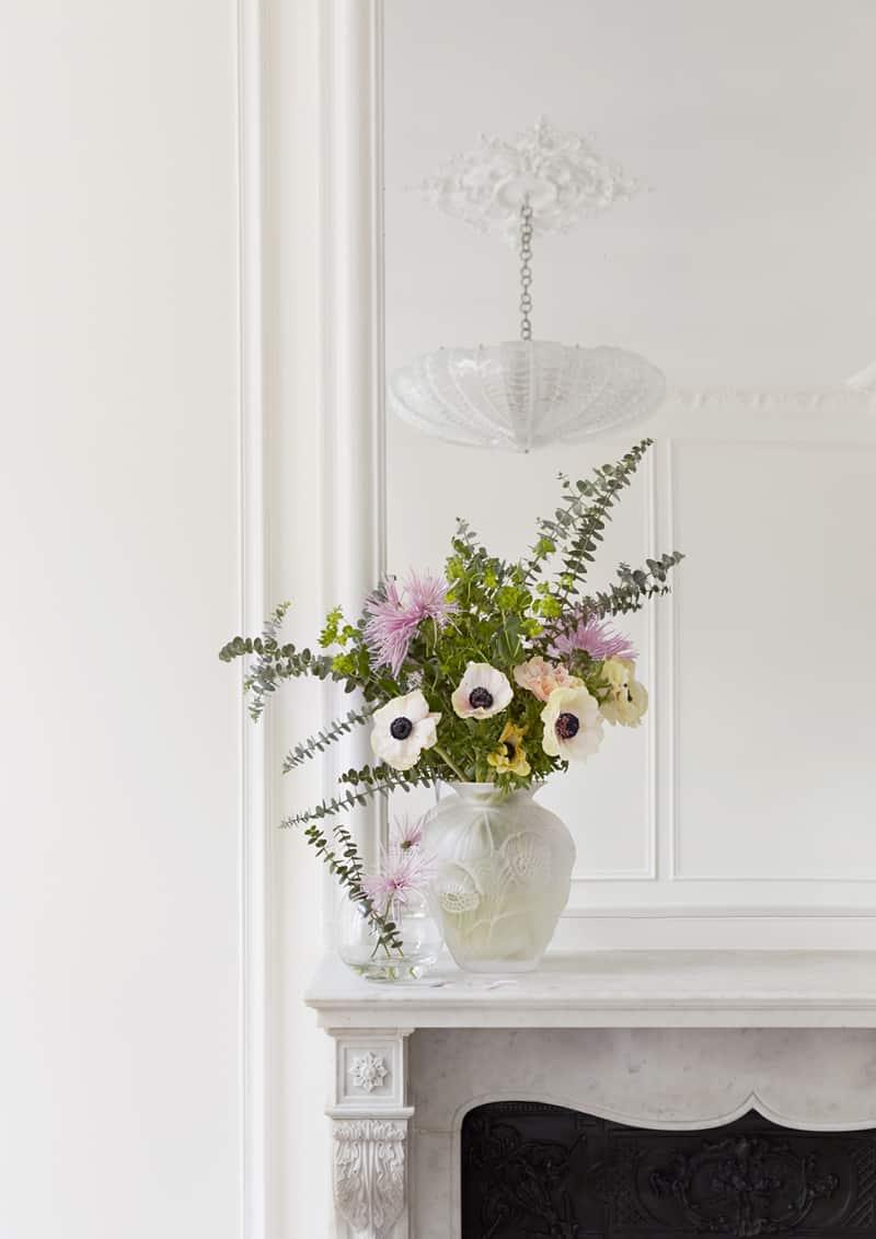 appartamento romantico a Parigi | i colori pastello dei fiori freschi