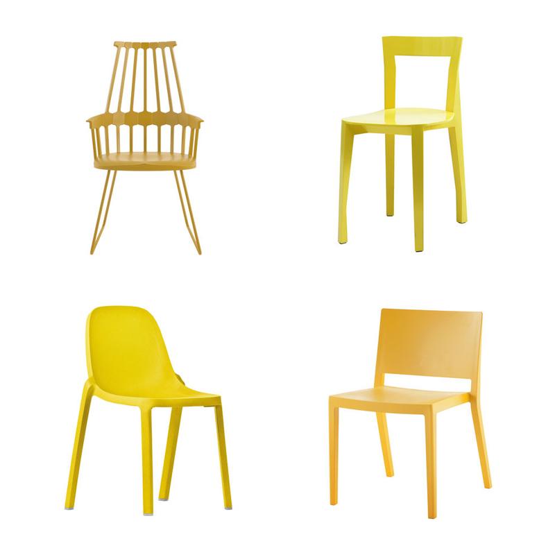 sedie diverse intorno al tavolo | il bello del mix&match