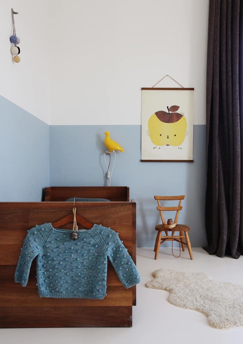 effetto boiserie: colore a metà parete