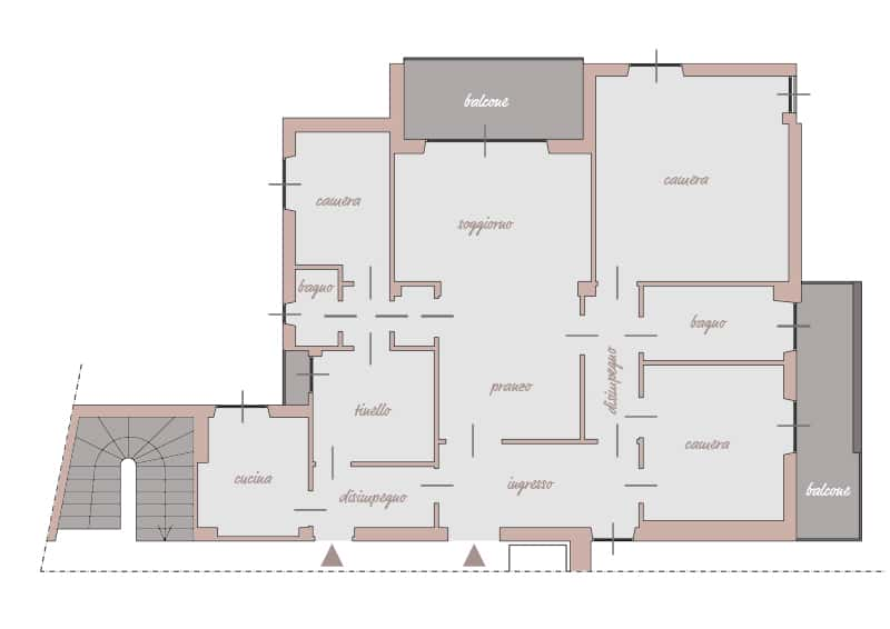 frazionare un appartamento: progetto su misura
