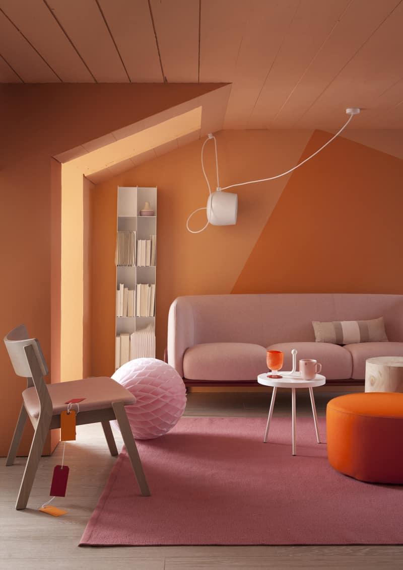 Image result for abbinamenti colori pareti con arancione