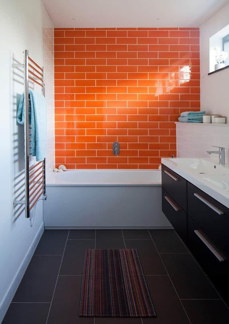 Piastrelle Arancioni Per Bagno interni arancio: come curare gli abbinamenti di colore