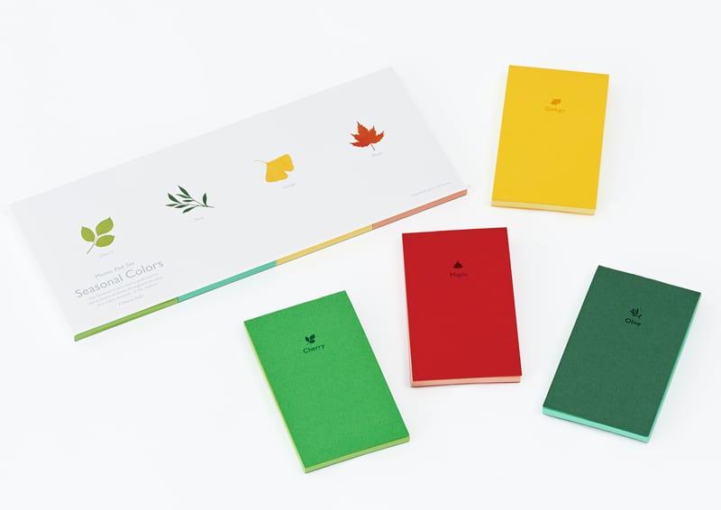 design giapponse | Katsumi Tamura |Seasonal Colors Memo pad set