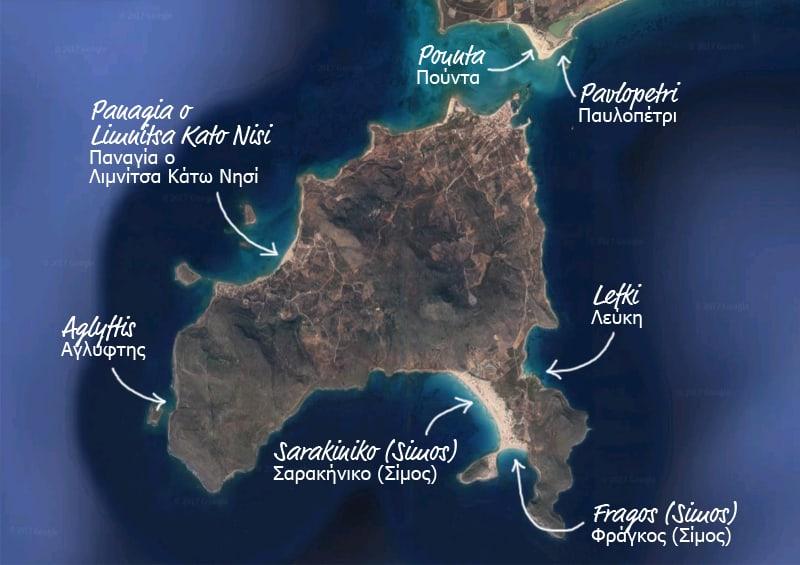 piccola guida di Elafonisos, perla della Laconia | le spiagge