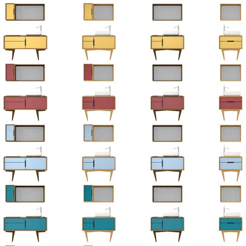 tendenze Cersaie 2017: il vintage interpretato in chiave colore e artigianalità da RStudio con B'52