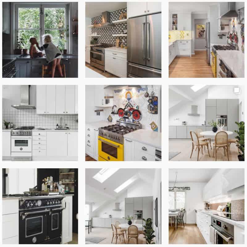 galleria immagini cucine Bertazzoni su instagram
