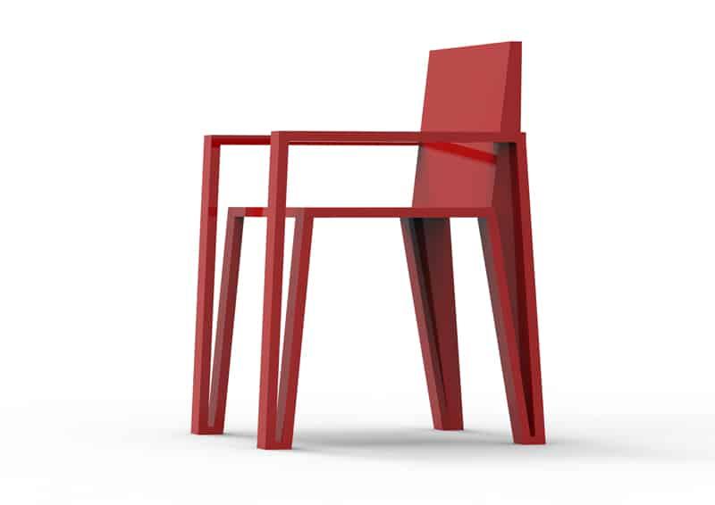design brasiliano | Mula Preta Design |Reta Chair