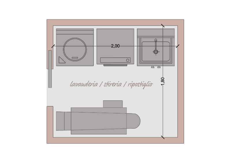 organizzare lavanderia, stireria e ripostiglio | dimensioni minime dell'ambiente dedicato