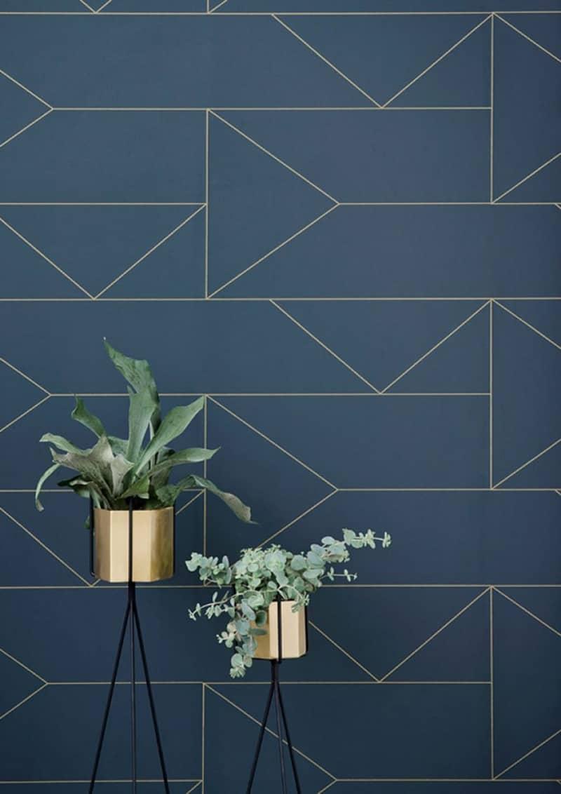 Carta Da Parati Geometrica.Carta Da Parati A Disegni Geometrici In Stile Scandinavo Design Outfit