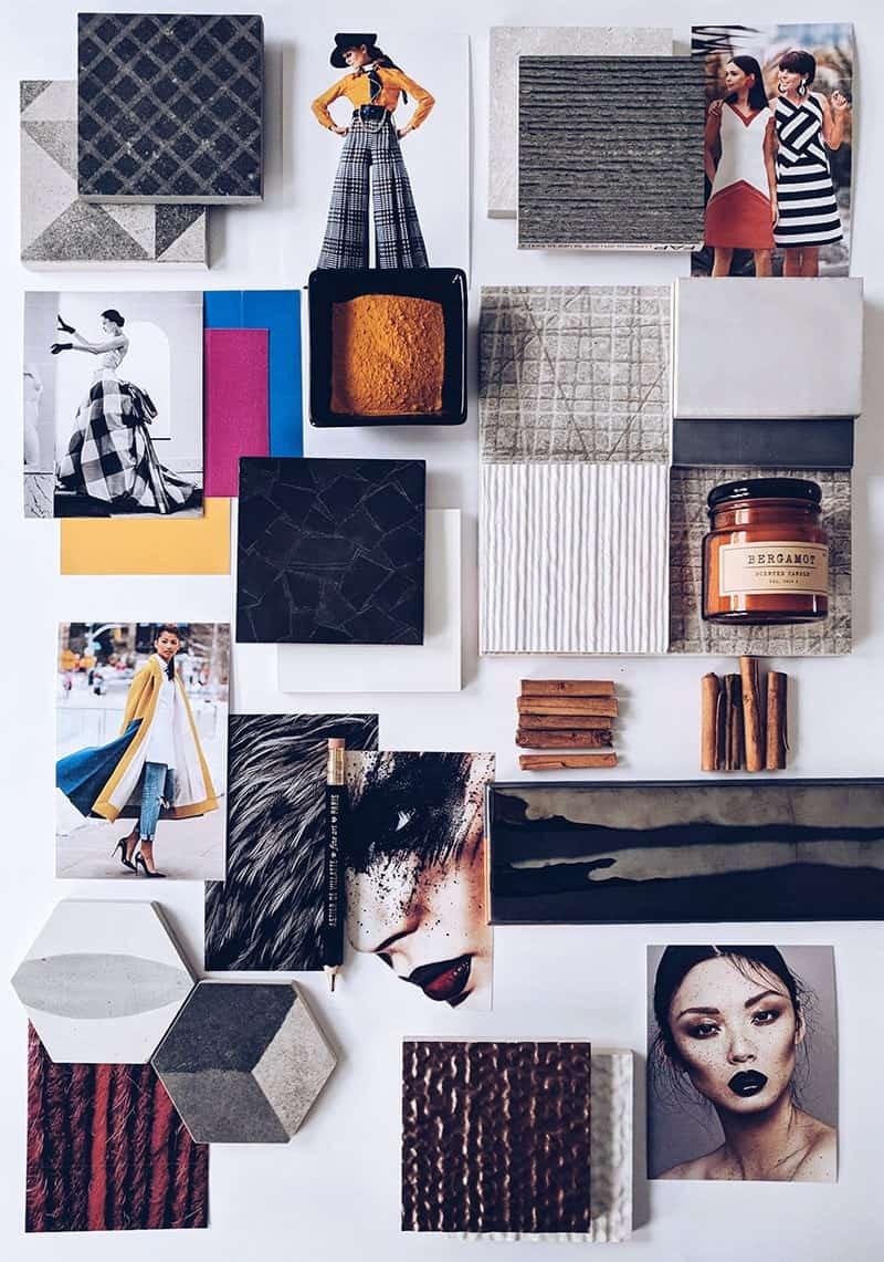 MaisonLab, Moodboard ispirazionale per arredare con i colori moda 2018