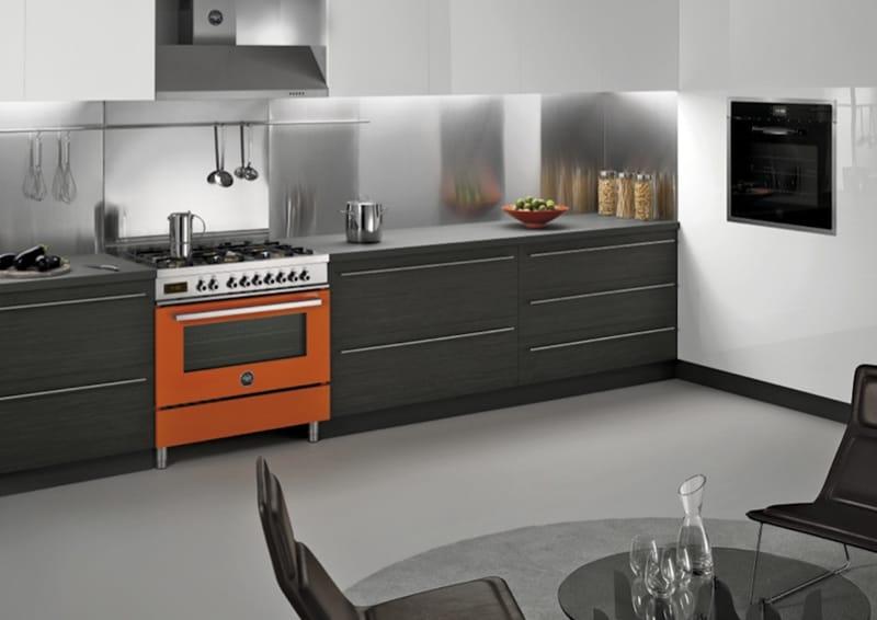 design italiano | Bertazzoni Spa|PRO90 6 MFE S AR Arancio Freestanding cooker