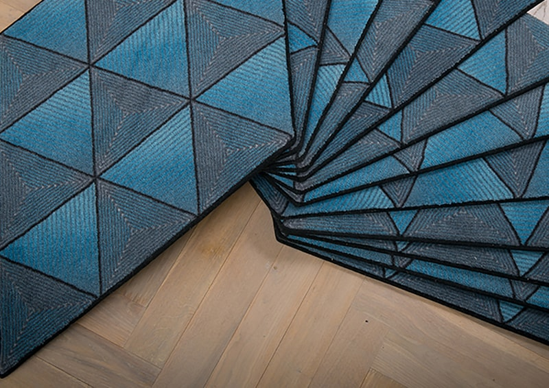 design nordico | Ingrid Kulper Design|Jigsaw Stardust Adaptable multipurpose carpet