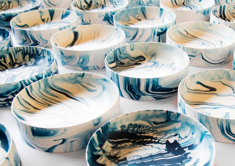 design nordico | Troels Flensted|Poured Collection of tables, plates and bowls