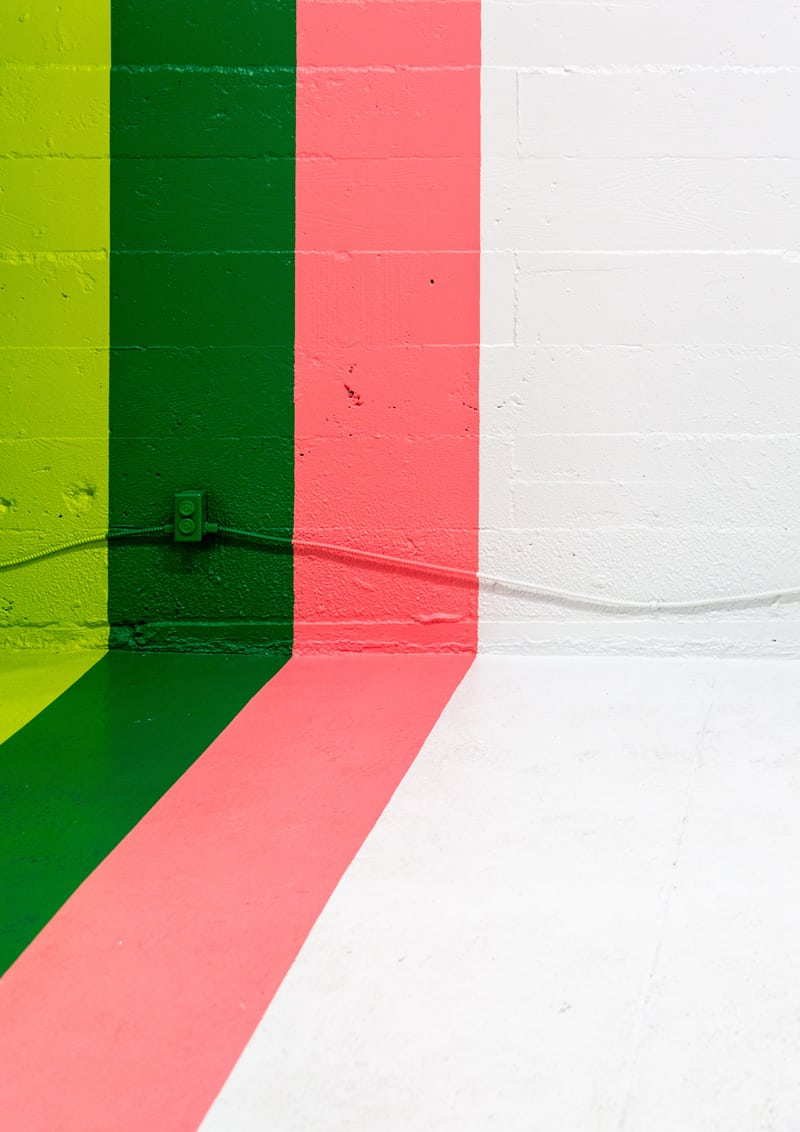 Pareti Pitturate A Fasce effetti decorativi a parete da realizzare con le pitture
