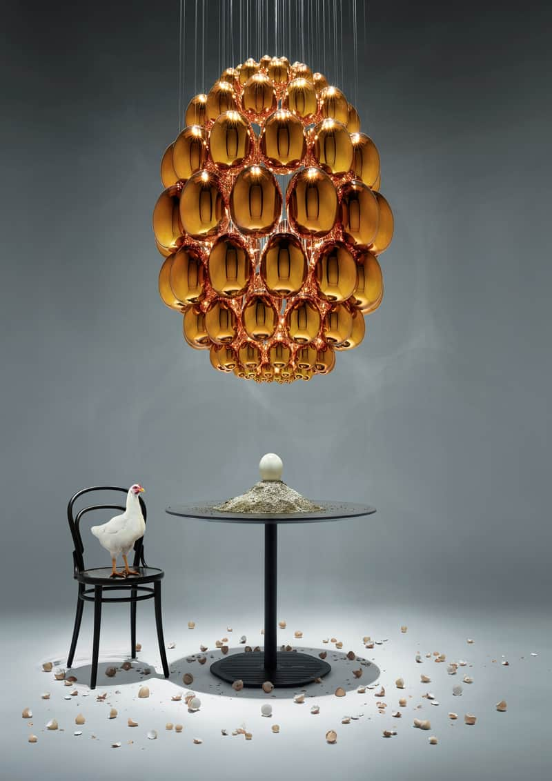 Rony Plesl, Uovo: la natura fatta chandelier