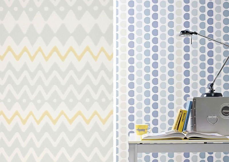 carta da parati decorativa per ogni stanza: pattern e colori