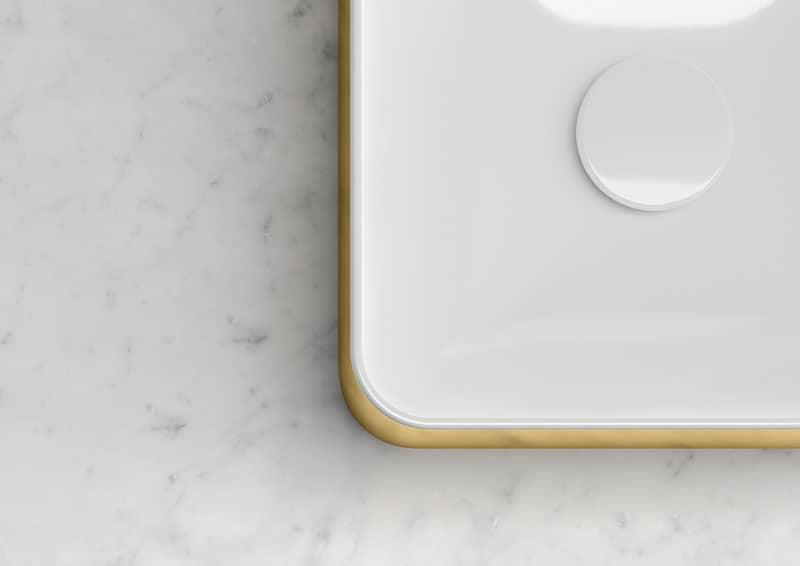 bagno classico rivisitato: le finiture preziose di GSI Ceramica